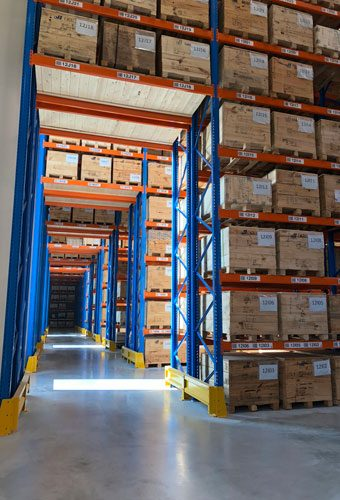 Palletstelling Magazijn Pallets